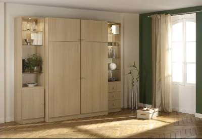 Meuble lit basic armoire lit diffusion sp cialiste du for Meuble informatique ferme but