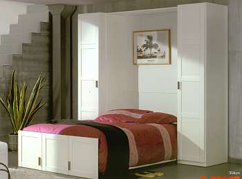 lit escamotable manhattan armoire lit diffusion. Black Bedroom Furniture Sets. Home Design Ideas